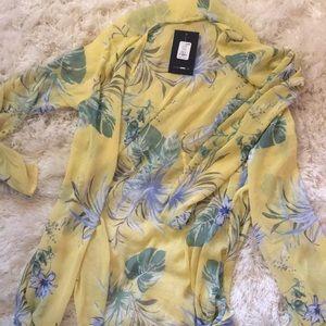 Other - Yellow sheer kimono